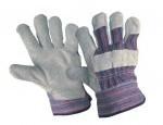 Комбинирани работни ръкавици от кожа и плат