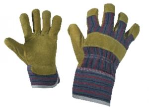 Работни ръкавици от цепена телешка кожа и плат TERN Код: 077160