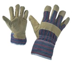 Работни ръкавици от цепена свинска кожа и плат SERIN Код: 077143