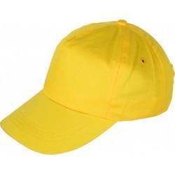 Шапка с козирка LEO /жълта/