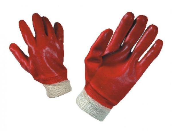 Работни ръкавици топени в PVC с ластичен маншет REDPOL Код: 0105027