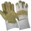 Работни ръкавици от свинска кожа и плат с подплата SHAG Код: 077144