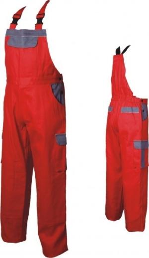 Работен полугащеризон в червен цвят. Код: 078024