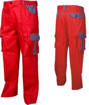 Работно облекло - Работен панталон със светлоотразителен кант ASIMO /цвят червен/ Код: 078031