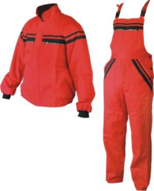 Работен костюм - полугащеризон и яке L1/цвят червен/ Код: 078272