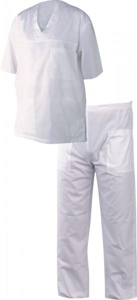Медицински дрехи - Мъжка туника с панталон M3/бяло/ Код: 078593