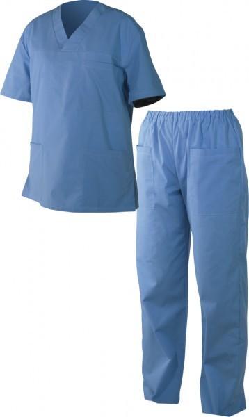 Медицински дрехи - Мъжка туника с панталон M3 /син/ Код: 3220-C1