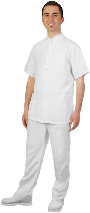 Мъжка медицинска туника с къс ръкав Код 4009