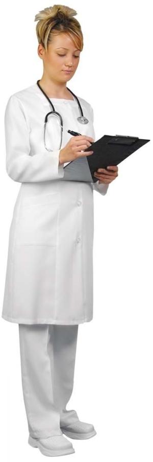 Медицински дрехи - Дамска престилка с дълъг ръкав. Код 382К-BG