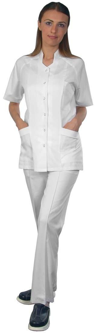 Медицинска дамска туника с къс ръкав - Код: 4045