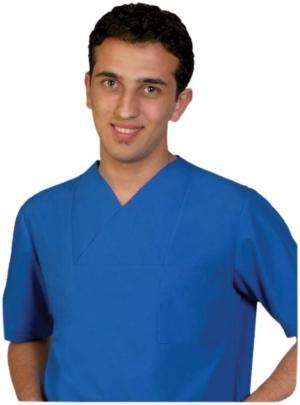 Синя медицинска туника с панталон за мъже. Код: 2007