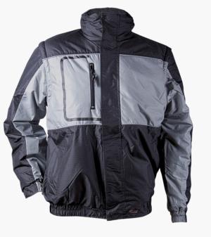 Зимно яке със светлоотразителни кантове модел LUPUS (сив цвят)