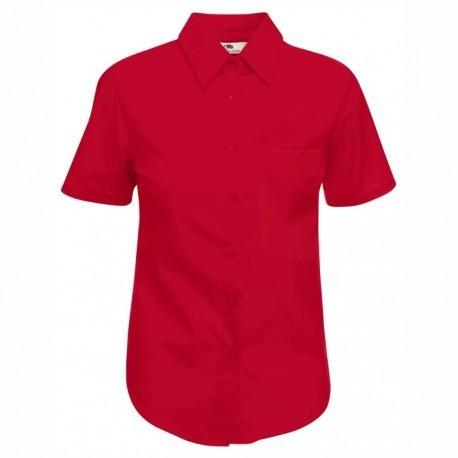Дамска класическа риза с къс ръкав ID 35 (червена)