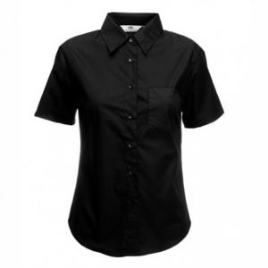 Дамска класическа риза с къс ръкав ID 35 (черна)