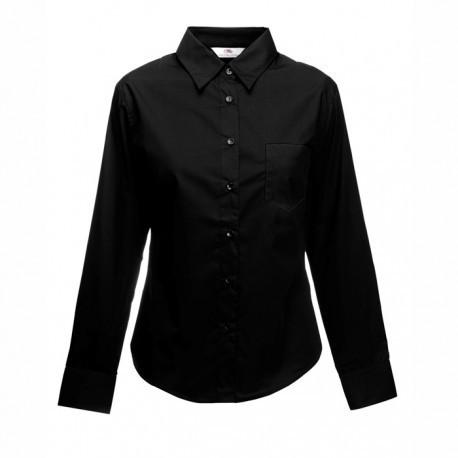 Дамска риза с дълъг ръкав ID 63 (черна)