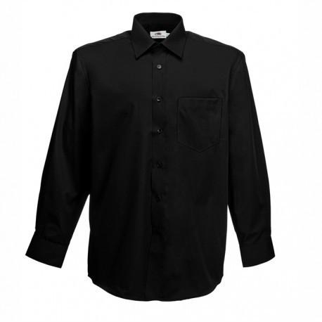 Класическа мъжка риза с дълъг ръкав ID 64 (черна)