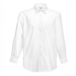 Класическа мъжка риза с дълъг ръкав ID 64 (бяла)