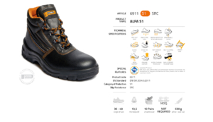 Обувки за работа Panda Alfa 01