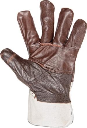 работни ръкавици от кожа и плат